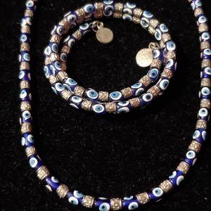 Jewelry - Evil eye necklace and bracelet